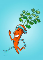 carrot run running vegetable health sport