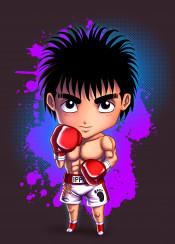 boxer kickboxer ippo anime manga japan japanese martialarts mma fighter boxing sport chibi kawaii