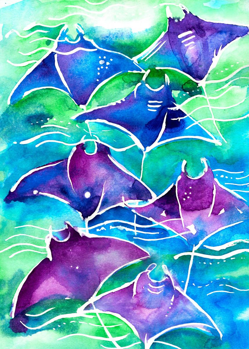 Manta Ray Watercolor 587669