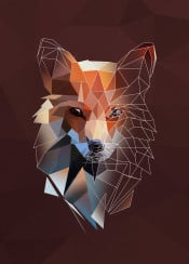 fox sketch head animal triangle low poly lowpoly minimalistic geometric forrest wolf abstract