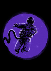 astronaut fantasy lost galaxy illustration stars blackhole space