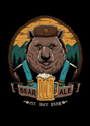 beer bear ale fathers day gift cool animal animals
