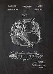snare drum drummer drums rock blues music musician play soud concert roll metal blackboard patent drawing blueprint blackprint chalk sketch draw