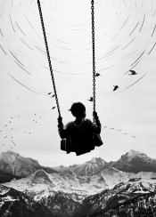 abstract  adventure  birds  black  boy  city  dream  fly  flying  ink  inspiration  inspire  minimal  mountain  nature  photo  space  swing  white  young