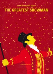 minimal movie film artwork cinema graphic design chungkong fan quote inspiration minimalist original alternative greatest showman hugh jackman phineas barnum freak tailor nyc circus business zac efron bailey earth elephant wax manhatann