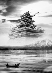 anime  black  boat  castle  cool  fishing  ink  inking  inspirational  inspire  japan  japanese  minimal  mountain  nature  photo  photography  sea  traditional  white