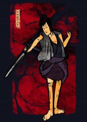 traditional ninj japanese japan ink inking ninja sasuke sword lightening anime manga red fire kanji cool inspire
