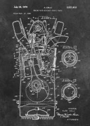 patent, art, patents, graphic, illustration, invention, vintage, scheme, decor, decoration, engine  machine