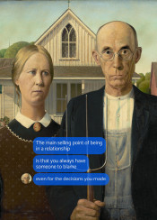meme artmeme classicart americangothic relationship marriage