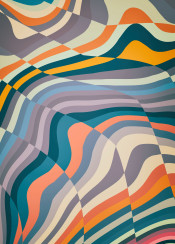 graphic pattern lines waves stripes positive abstract hypnotic psychedelic soft