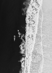 ocean surfing sea beach girls black white minimalism collage