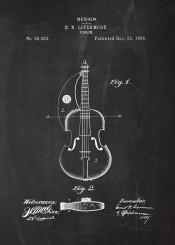 violin blackboard blueprint play music sound sounds patent drawing mozart bach chopin classical classic