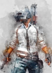 pubg player unknown battlegrounds video games watercolor gaming