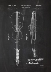 patent drawing blackboard blueprint violin volins orchestra play player chalk mozart bach musician musical