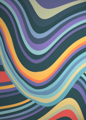 graphic design lines waves shapes dark bright neon hypnotic psychedelic abstract pattern stripes colorful
