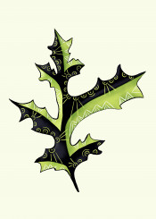 leaf nature botanical oak illustration digital tattoo tattooed organic floral flora abstract whimsical decorative weird bizarre odd strange summer spring