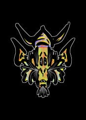 viking alien aliens scifi monster fantasy orc gof urban street green yellow hipster