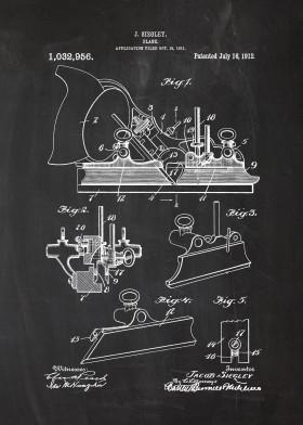 plane tool tools mechanic worshop patent drawing vintage blackboard blueprint blackprint sketch chalk wood wooden