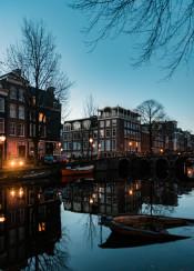 amsterdam reflection sunrise europe