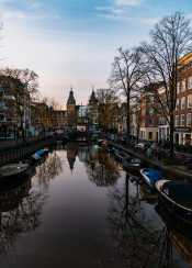 amsterdam reflection city cityscape europe dutch