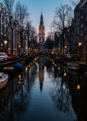 amsterdam reflection canal photography europe