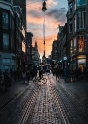 amsterdam evening sunset light europe dutch