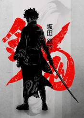 crimson  anime  manga  japan  japanese  ink  inking  crimson gin tama gintama  red  minimal  cool  inspire  fanfreak  sword  swordsman  fight  funny