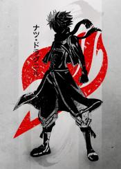 crimson dragon slayer natsu  fairy  tail  ink  inking  anime  manga  japanese  japan  cool  red  minimal  lucy  happy  dragon  dragneel  erza