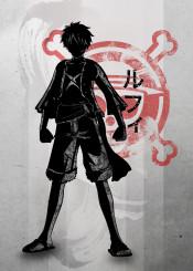 anime manga crimson characters luffy ink inking japanese japan skull red minimal zoro pirate king nami chopper scar sanji kanji
