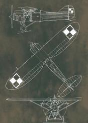 hanriot h26 blueprint green vintage plane airplane warplaine war pattern pattent