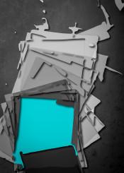 abstract  shapes  wall  illustration  blue  wallart