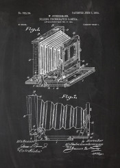 flding photographic camera patent drawing cam foto photography picture capture blackboard blueprint vintage