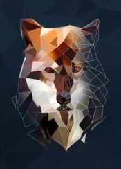 abstract  brown  dog  geometric  head  lineart  minimalism  minimalist  triangle  wolf