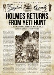 sherlock holmes yeti newspapers retro crime detective
