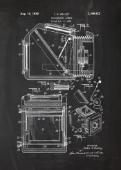 photo photographic camera patent drawing cam foto blackboard blueprint vintage