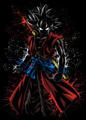 goku anime manga xenoverse xeno ssj saiyan kame warrior super power fight legendary legend splatter