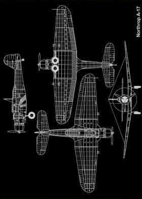 planes blueprints by star stary metal posters displate