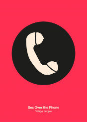 phone village people sex nsfw telephone minimal minimalist minimalism icon pictogram