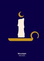 bob dylan moonlight candle moon night light icon pictogram minimal minimalism minimalist