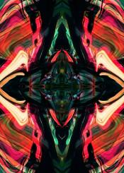 abstract colourful painting kaleidoscope black pink modern piaschneider mixedmedia acrylic