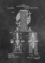 patent patents graphic illustration invention vintage scheme decor decoration black white tesla  magnetic  motor  machine