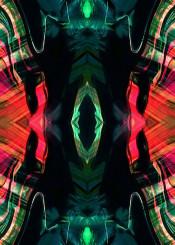 abstract acrylic painting kaleidoscope mixedmedia colourful black blue pink pattern piaschneider modernart bold wallart modern