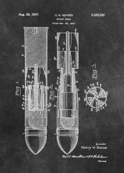 patent patents graphic illustration invention vintage scheme decor decoration black white rocket shell