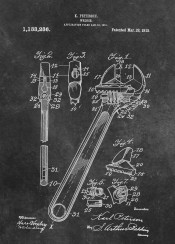 patent patents graphic illustration invention vintage scheme decor decoration black white wrench  machine
