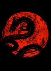 red  sun  dragon  ball  z  gt  super  saiyan  goku  vegeta  krillin  anime  manga  ink  cool  style  minimal  samo