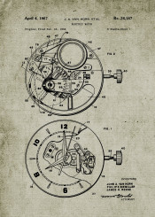 watch watches patent drawing blackboard blueprint vintage time clock chronograph chronometer wrist