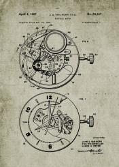 watch watches patent drawing blackboard blueprint vintage time clock chronograph chronometer wrist