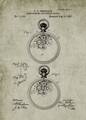 stem winding watch watches clock time patent drawing blackboard blueprint omega hublot seiko casio tag heuer vintage chronograph chronometer