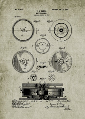 watch watches barrel clock time chrono chronograph patent drawing chronometer quartz blackboard blueprint
