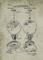watch watches patent drawing clock time blackboard blueprint vintage